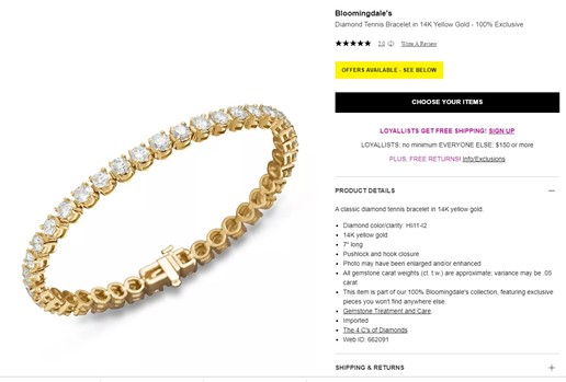 Who Spends $11,600.00 at Bloomingdales?